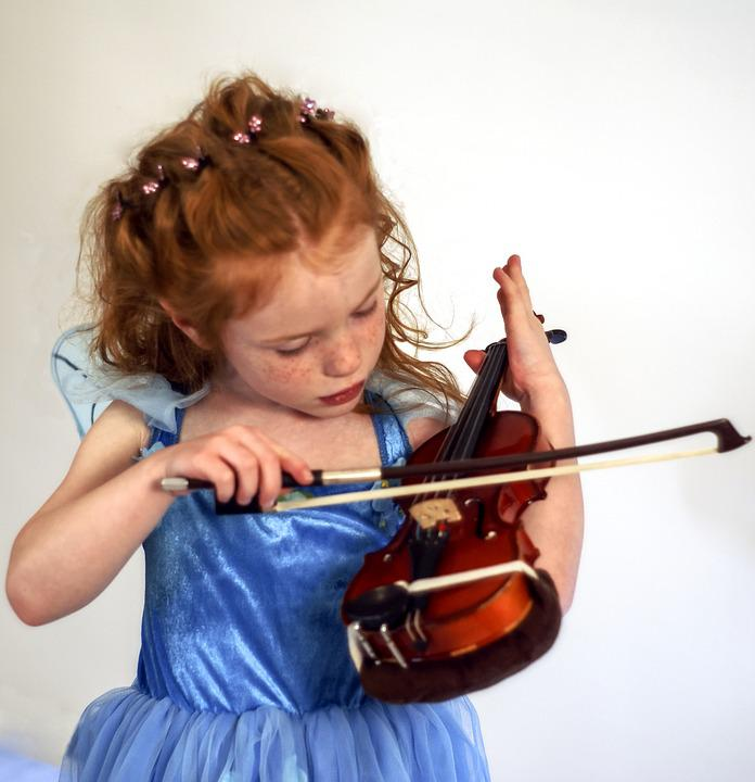 Violin, Fairy, Child, Instrument, Musician, Music