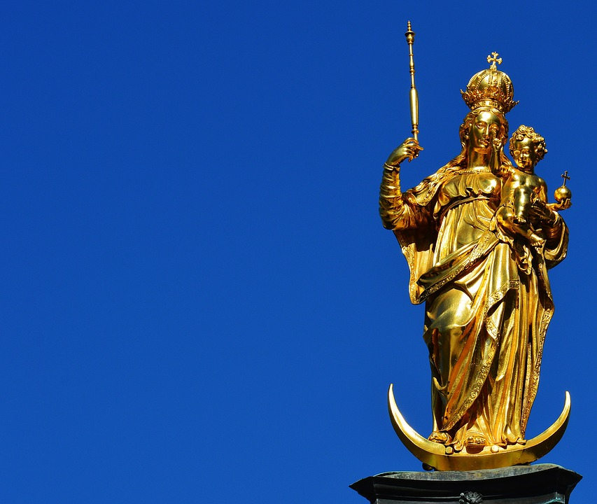 Munich, Marienplatz, Virgin Mary