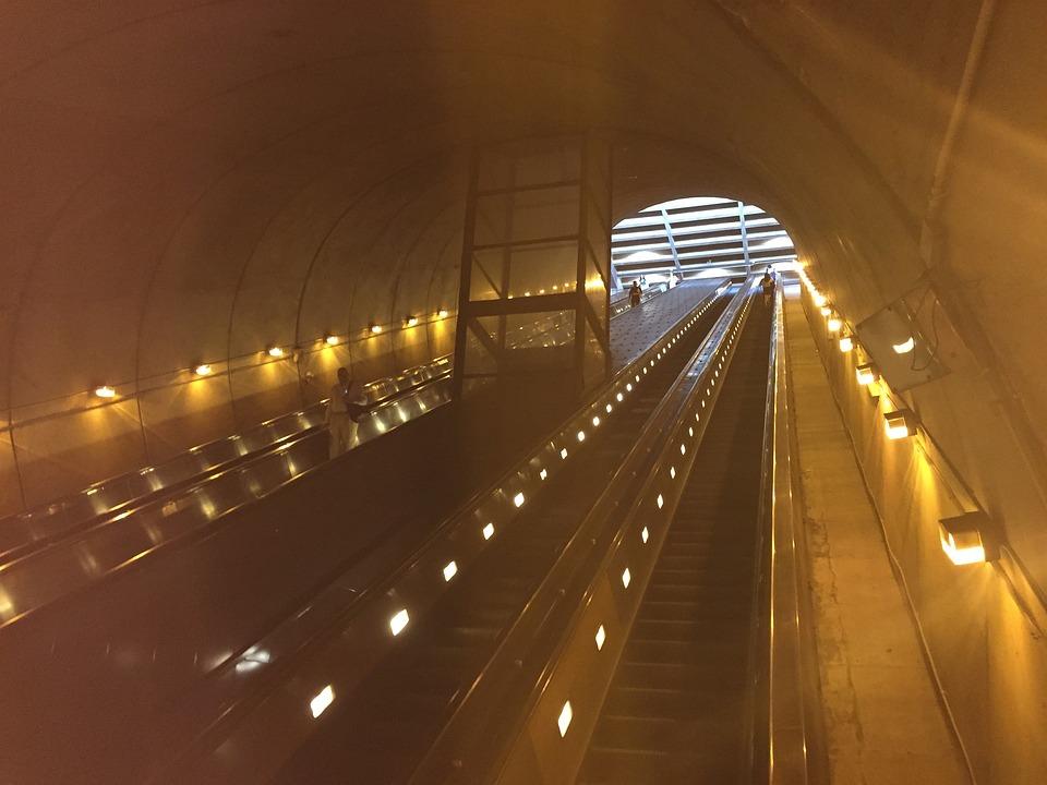 Escalator, Arlington, Virginia, Rise, Go Up