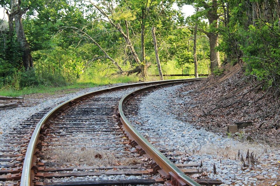 Shenandoah Valley, Virginia, Railroad, Tracks, Bend