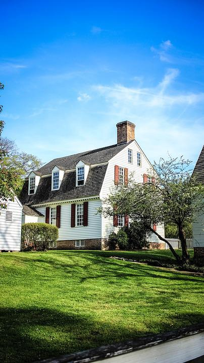 House, Virginia, Southern, Williamsburg, Usa, Historic