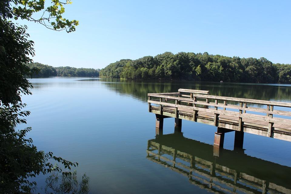 Shenandoah Valley, Virginia, Lake, Water, Dock