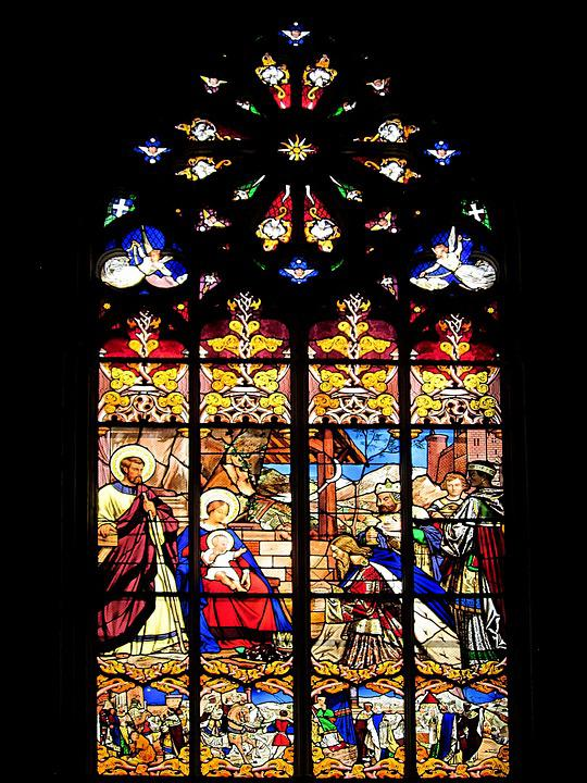 St Gatien Cathedral, Visit Of The Magi, Stained Glass