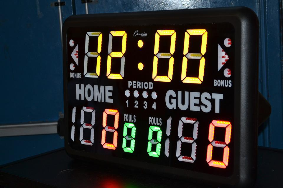 Shot Clock, Basketball, Home Game, Visitor, Timer