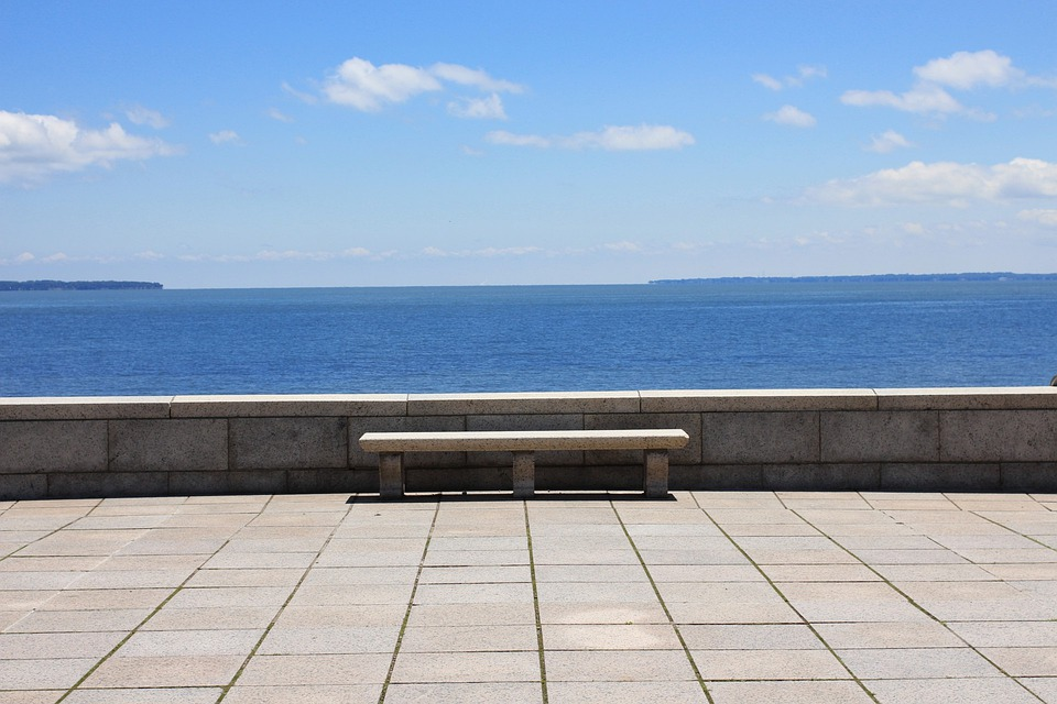 Sea, Sea View, Bench, Vista, View, Horizon, Peace