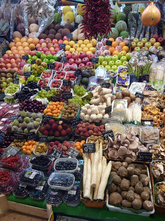 Vegetables, Market, Fruit, Food, Healthy, Eat, Vitamins