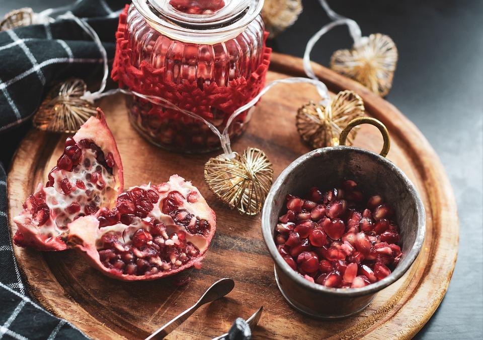 Apple, Pomegranate, Fruit, Vitamins, Still Life