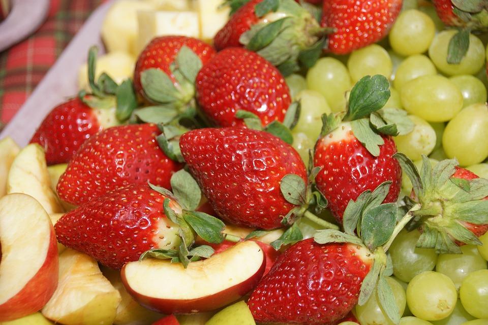 Strawberries, Apple, Grapes, Vitamins, Fruit, Sweet
