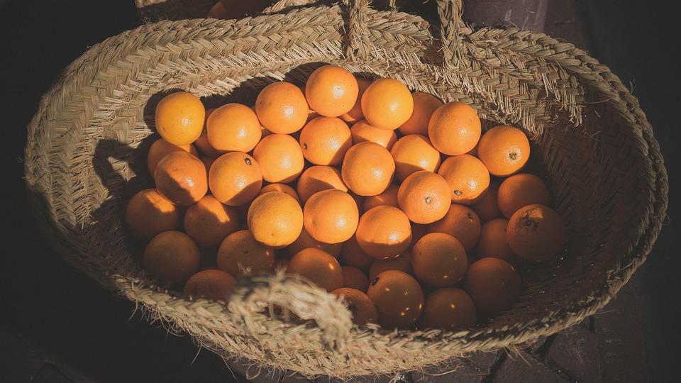 Orange, Fruits, Food, Vitamins, Basket