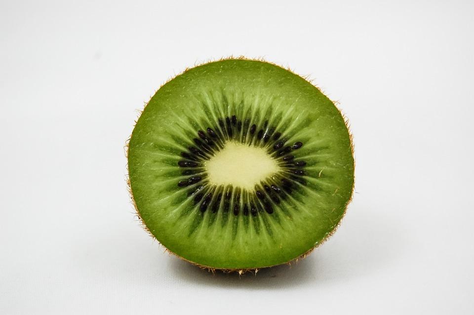 Kiwi, Half, Fruit, Vitamins, Healthy Eating, Green