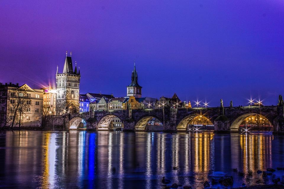 Prague, Charles Bridge, Vltava