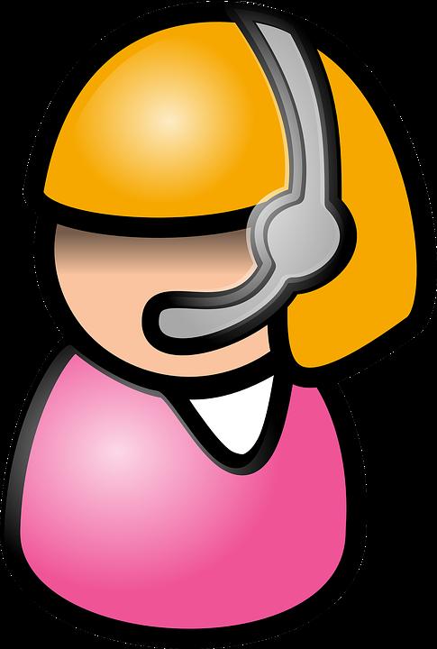 Girl, Call Center, Operator, Headphone, Talk, Voip