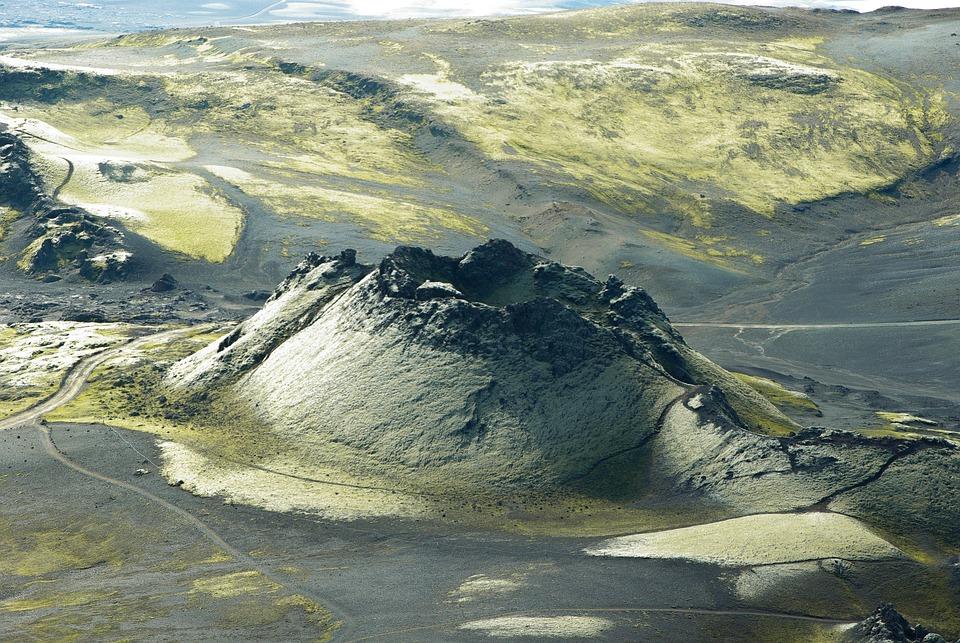 Iceland, Laki, Volcano, Crater, Foams