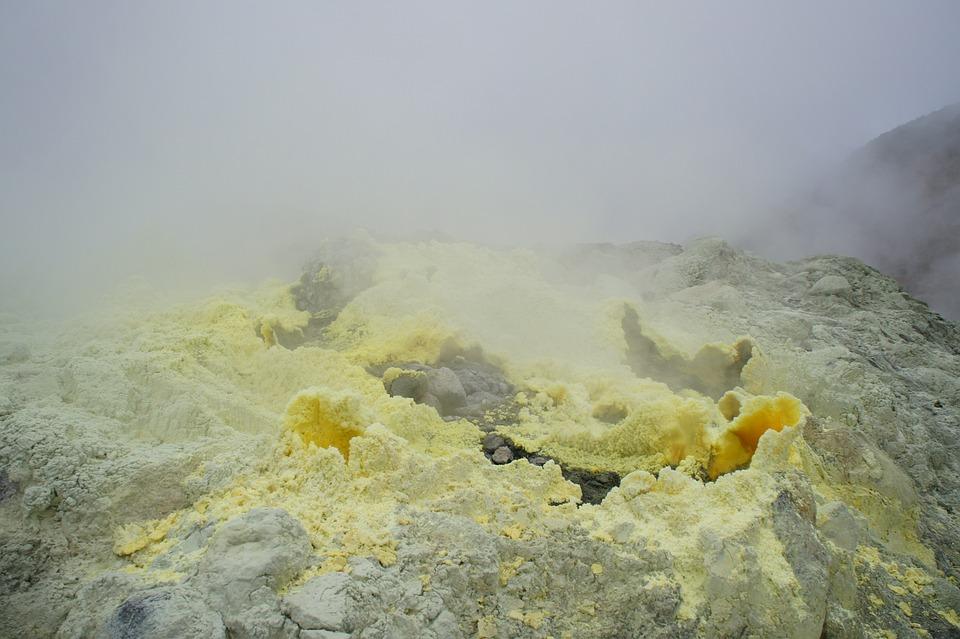 Volcano, Lava, Java, Nature
