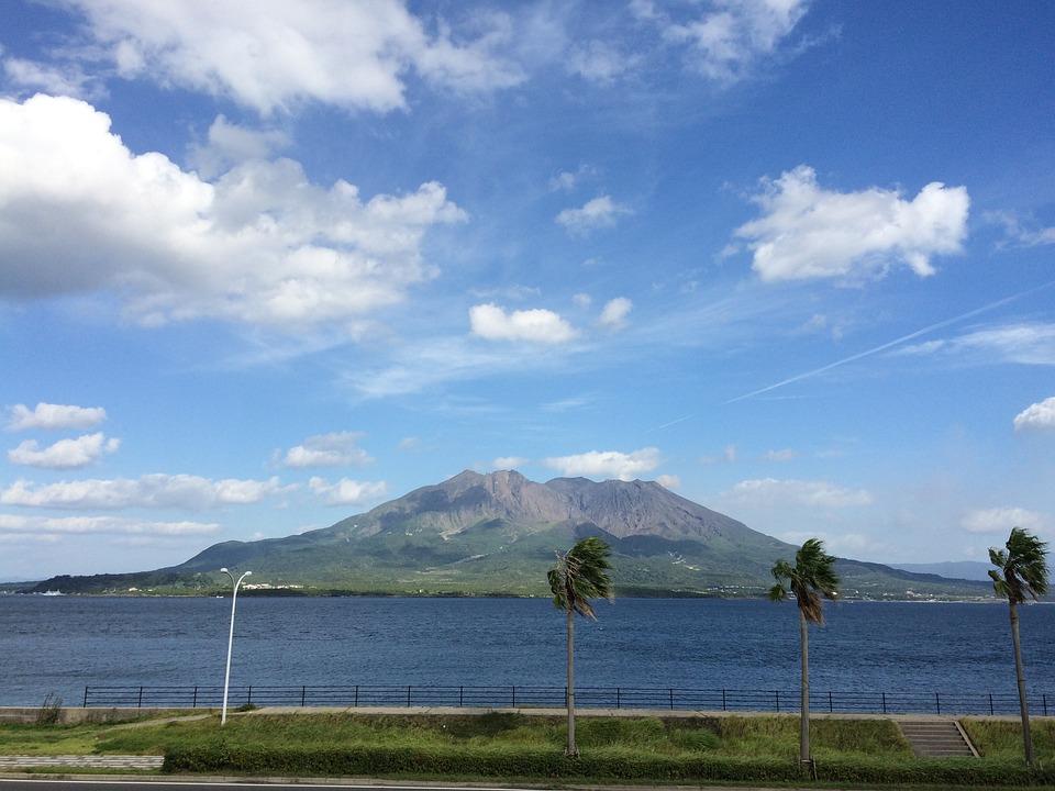 Sakura-jima, Volcano, Kagoshima, Kinko Bay