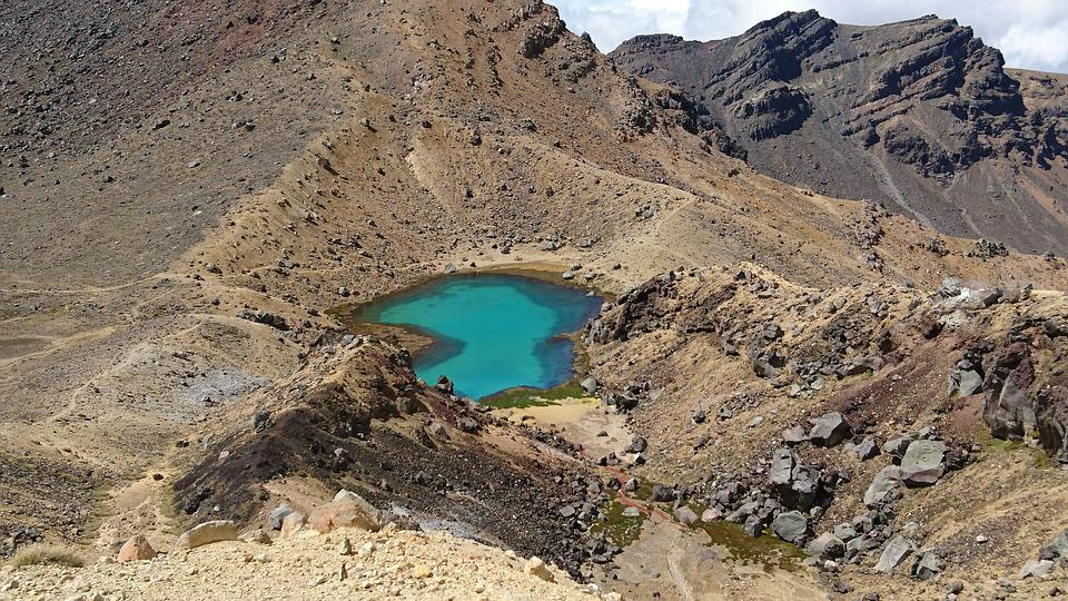 New Zealand, Volcano, Lake, Mountain, Crossing