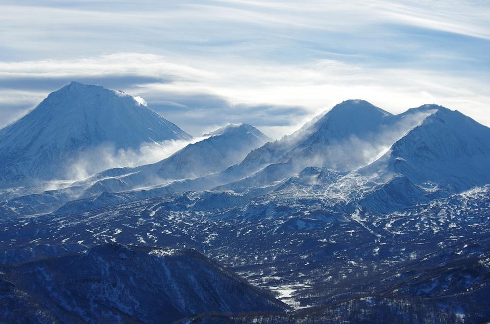Mountains, Volcano, The Foot, Snow, Silt, Sastrugi
