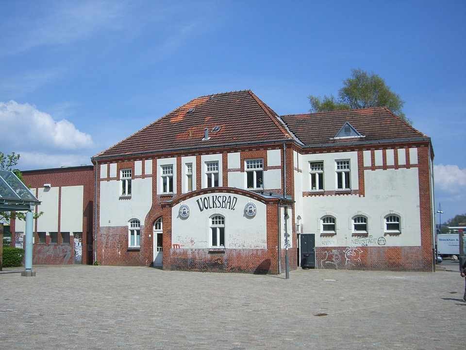 Flensburg, Volksbad, Volxbad, Historic Building