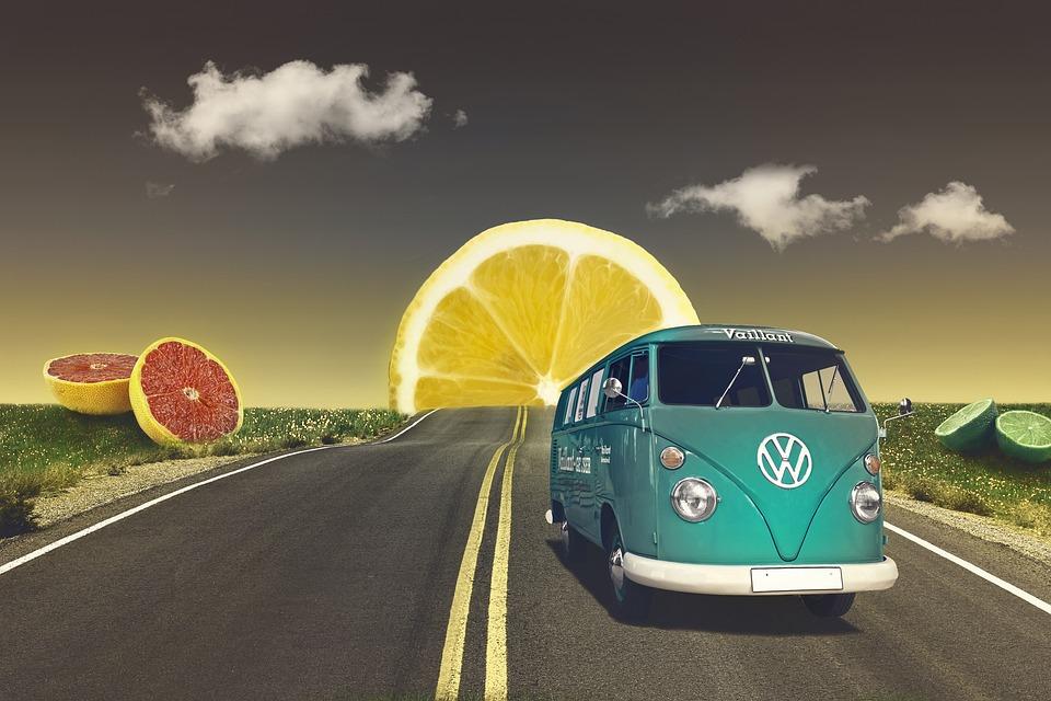 Volkswagen, Road, Citrus Slices, Citrus, Slices, Vw
