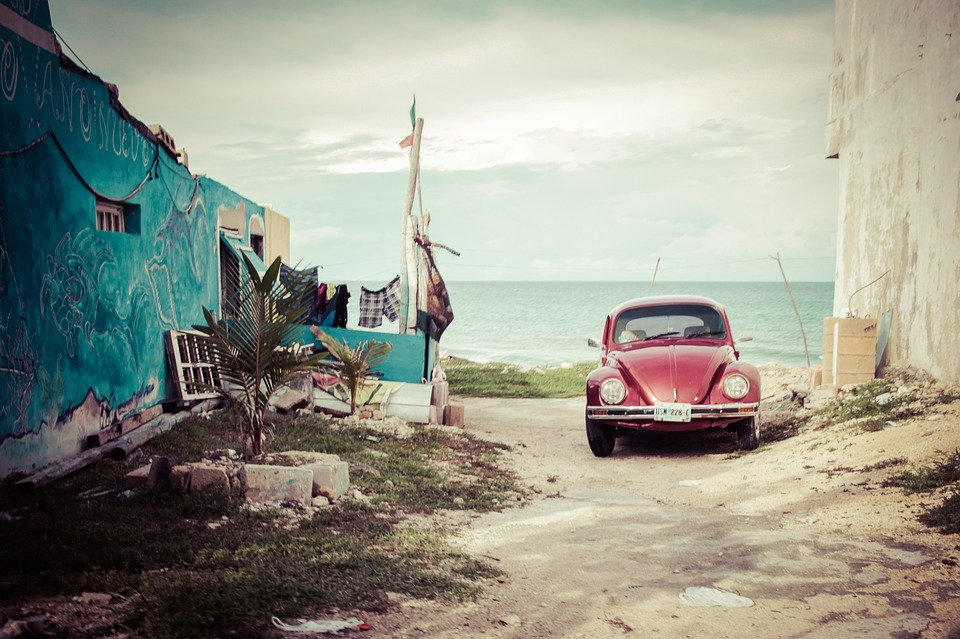 Car, Volkswagen, Old, Beetle, Mexico, Street, Tour