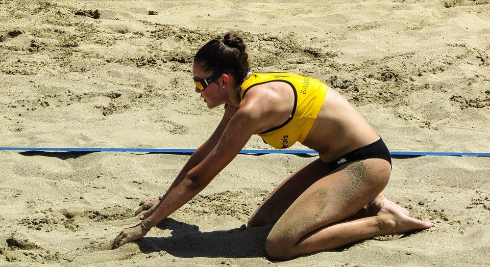 Beach Volley, Sport, Volley, Volleyball, Summer, Female