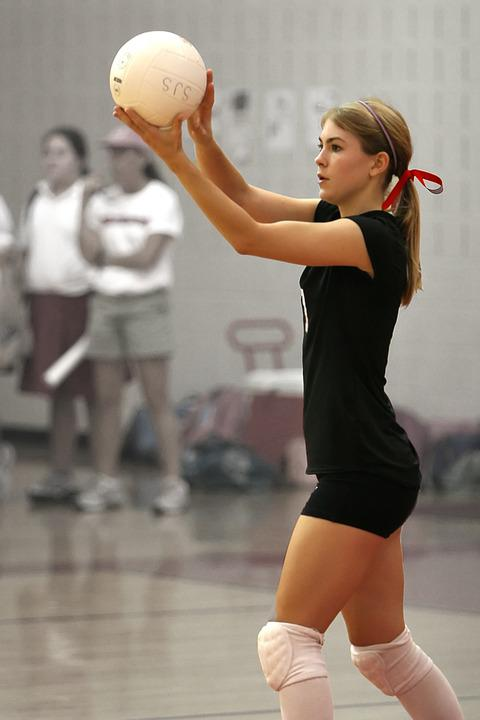 free photo volleyball female serving player sport serve max pixel