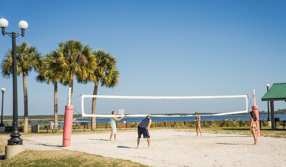 Beach Volleyball, Volleyball Net, Pine Island, Tropical