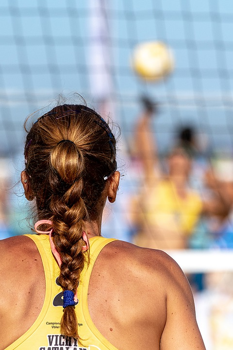 Beach, Volleyball, Ball, Team, Sport, Play