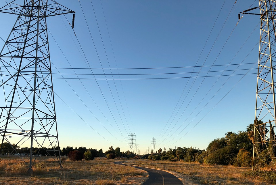 Pylon, Electricity, Energy, Current, Voltage, Sky