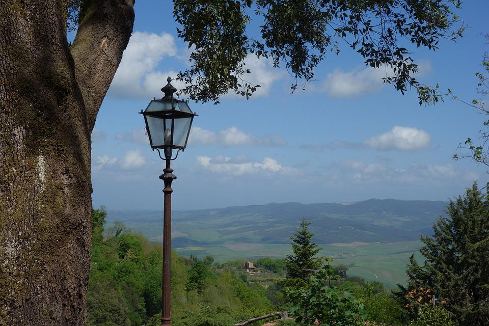 Volterra, Tuscany, Italy, Landscape, Panorama, Town