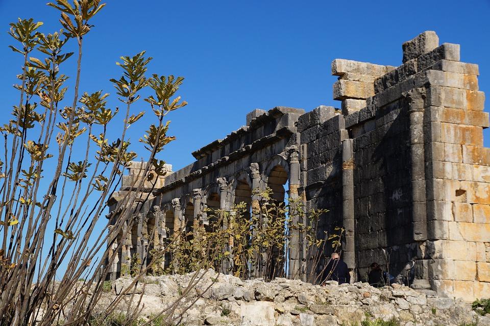 Ruins, Volubilis, Architecture, Ancient, Building
