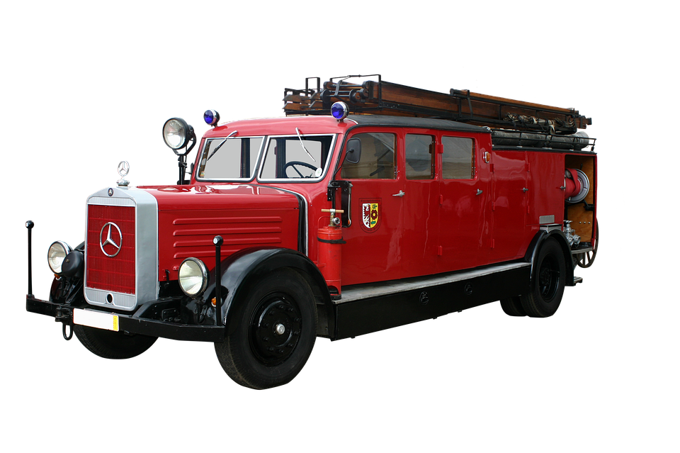 Fire Truck, Volunteer Firefighter, Oldtimer
