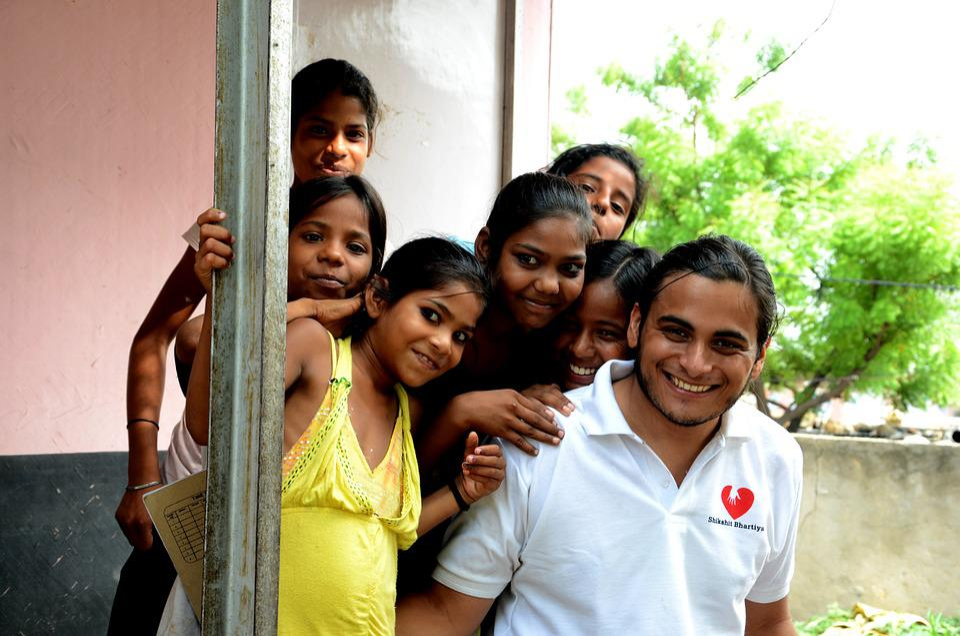 Kids, India, Volunteers