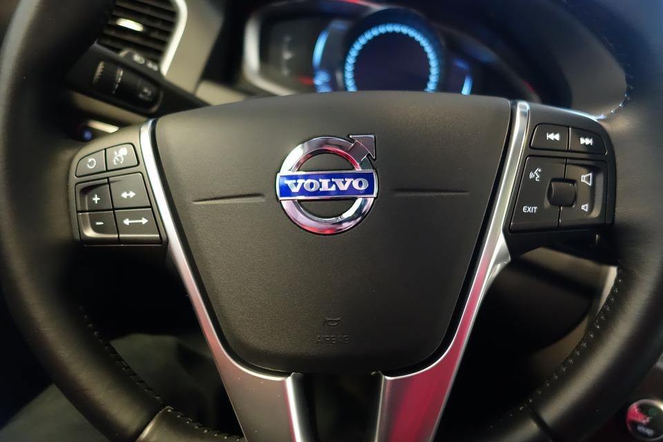Volvo, Steering Wheel, Car