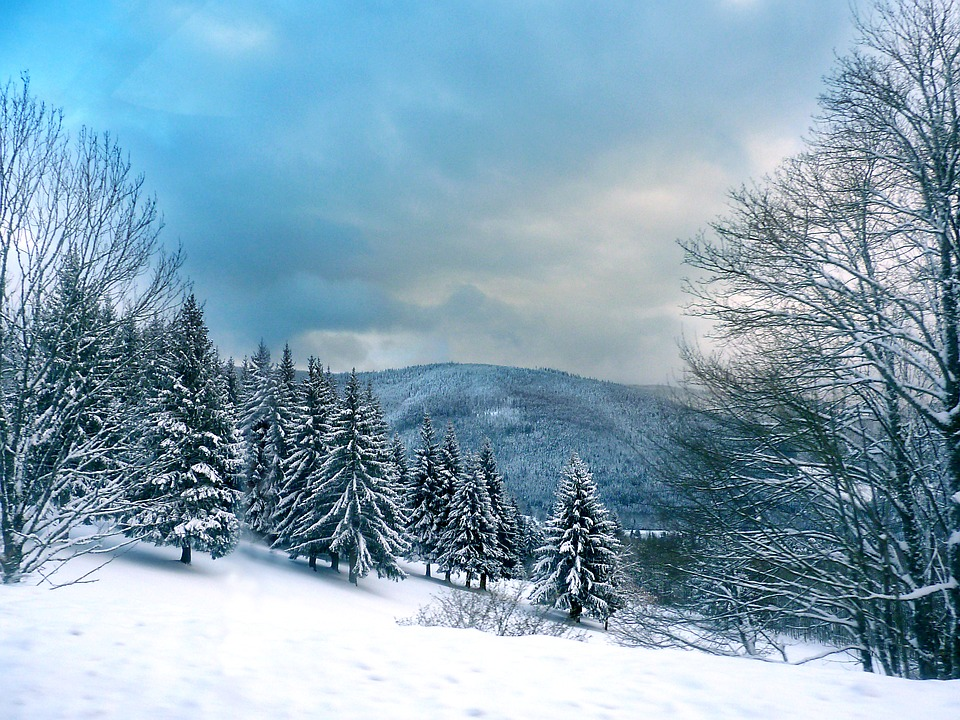Vosges, Snow, Mountain, Winter, Blue, Sky, Landscape