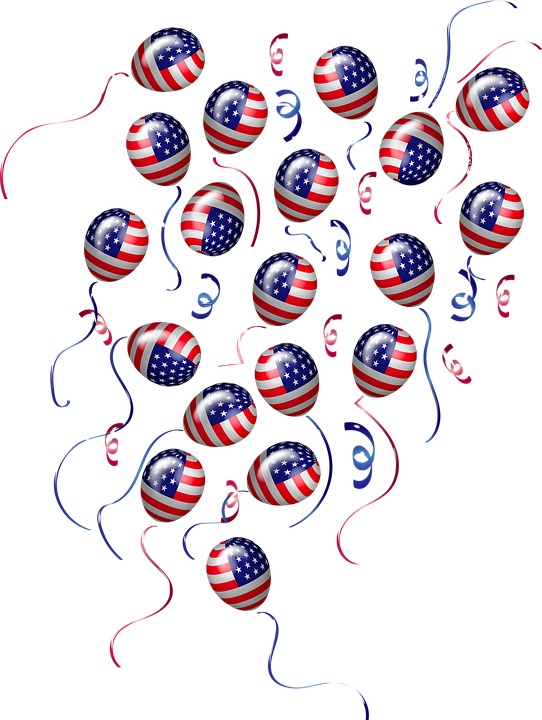 Election 2020, Vote, Flag Balloons, Usa, Democracy