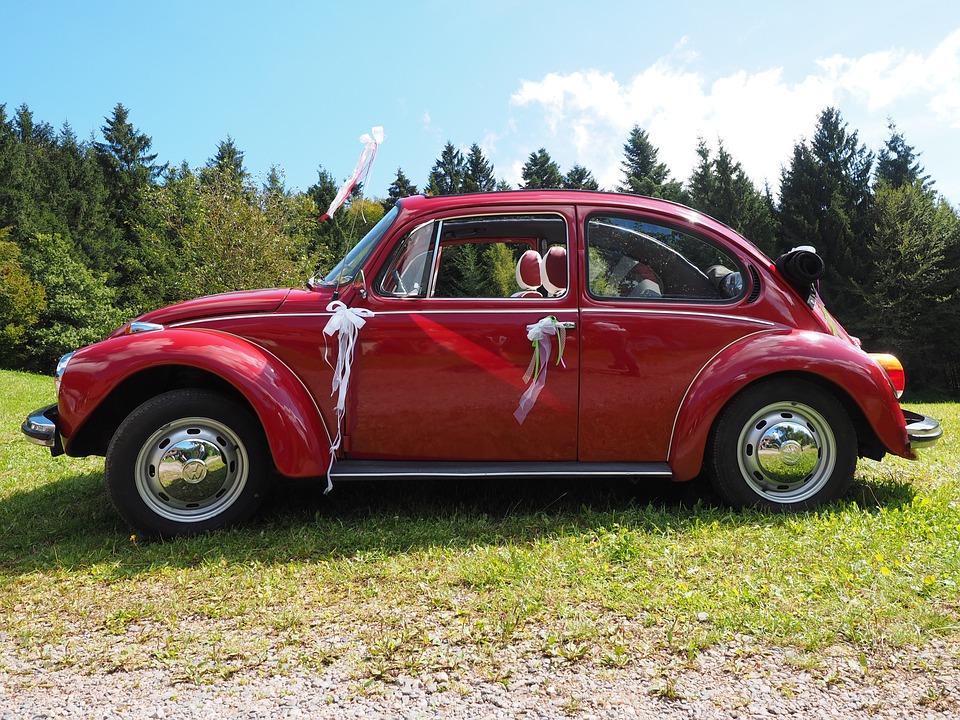 Free photo Vw Beetle Auto Bridal Car Vehicle Vw Oldtimer - Max Pixel