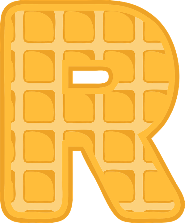 R, Alphabet, Waffle, Letter, Typography, Text, Font