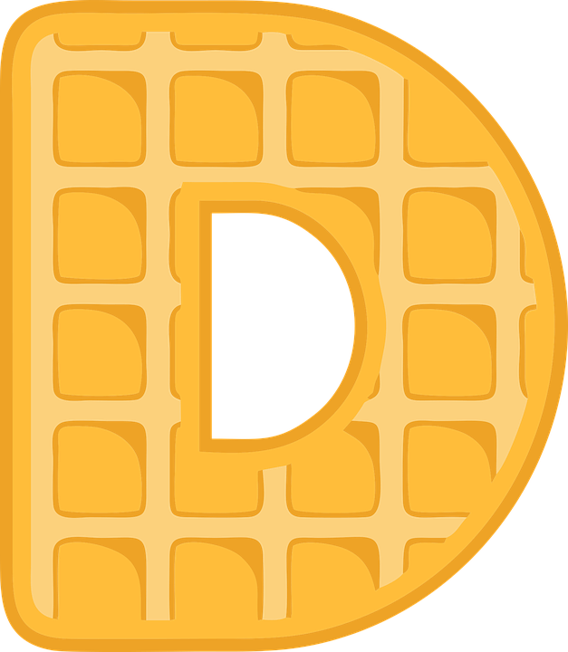 D, Alphabet, Waffle, Letter, Typography, Text, Font