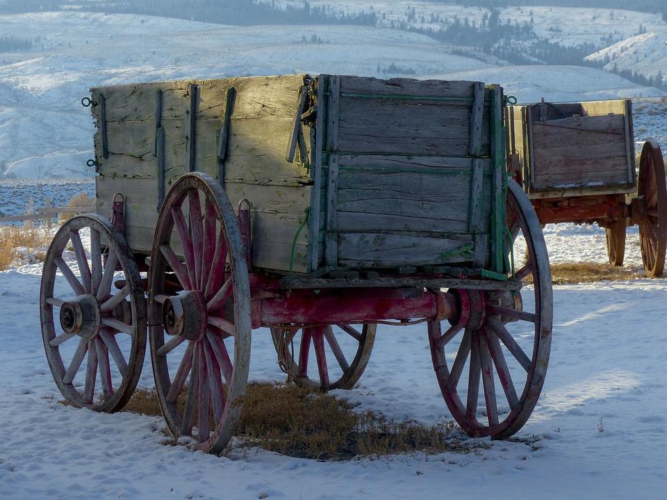 Wagon, Deadman, Ranch, Ancient, Buildings, Wooden