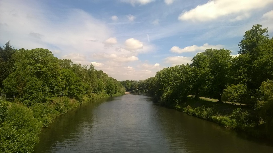 River, Water, Wales, Cardiff, Uk, Welsh