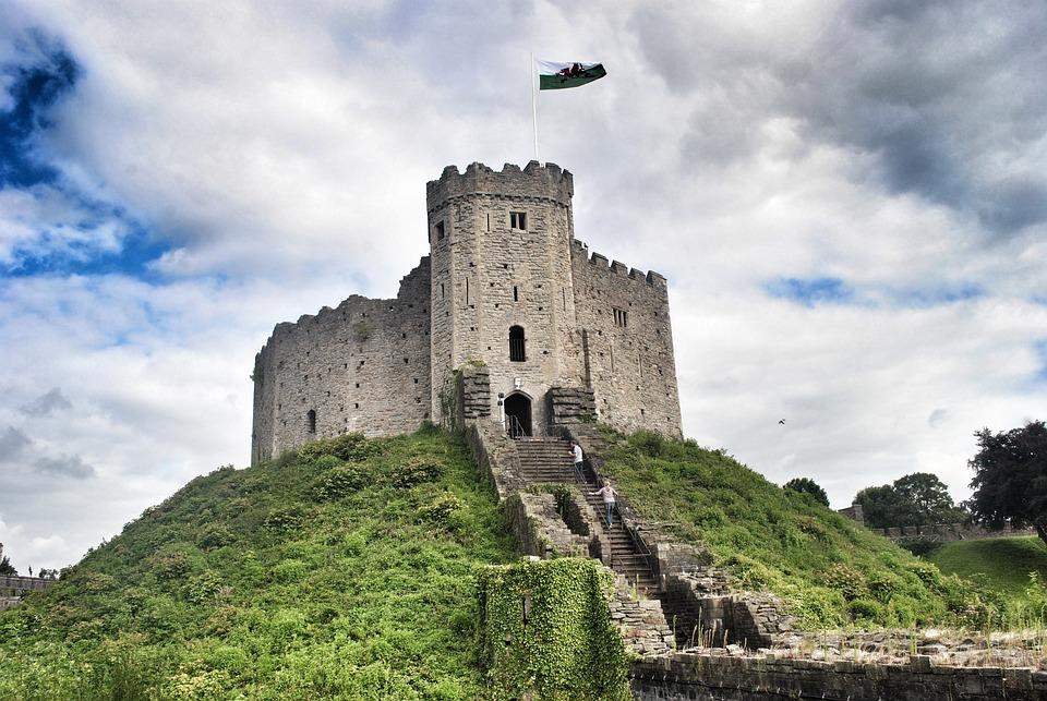 Castle, Cardiff, Wales, Uk