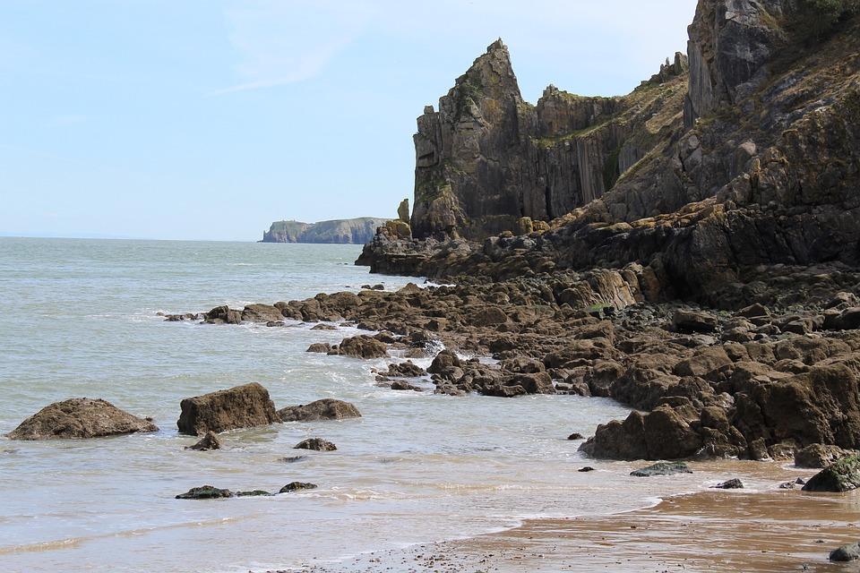 Water, Seashore, Sea, Rock, Beach, Wales, Ocean, Coast