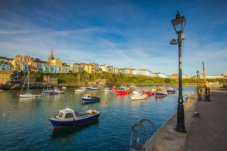 Port, Ocean, Ships, City, Holiday, Wales, England
