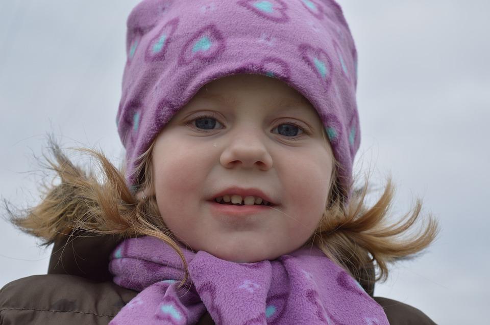 Baby Girl, Child, Walk, Winter