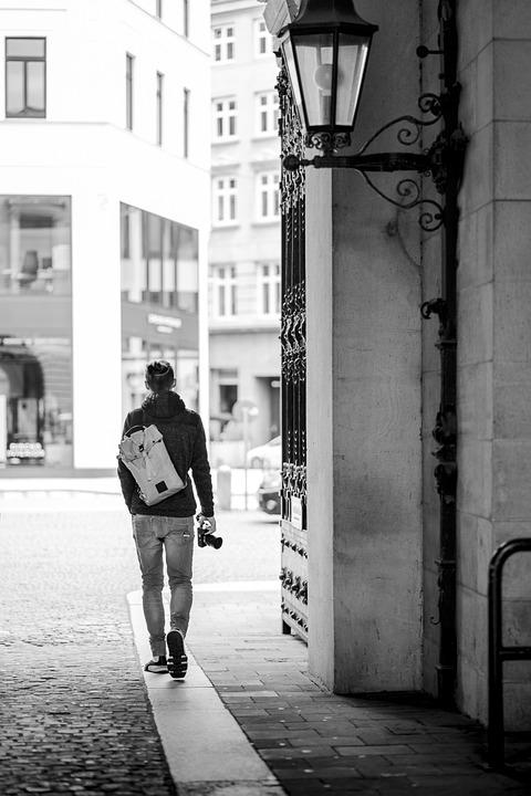 Man, Walk, Alley, Black And White, Photographer