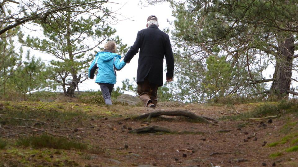Walk, Family, Father, Child, Nature, More, Forest