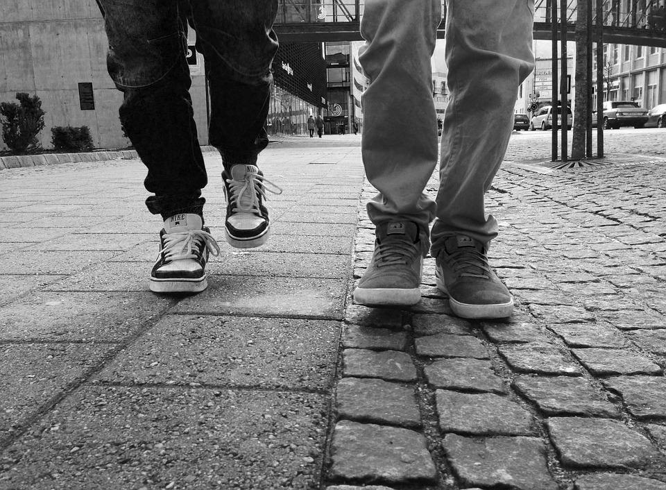 Walk, Walking, Feet, Legs, People, Strolling, Shoes