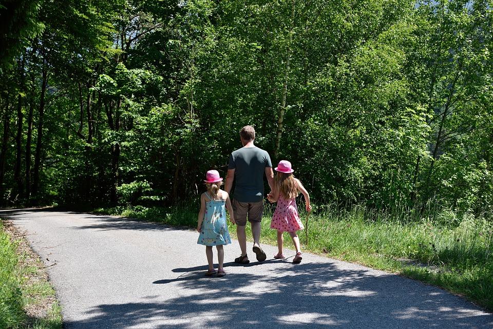 Hiking, Walk, Family, Father, Children, Away, Nature