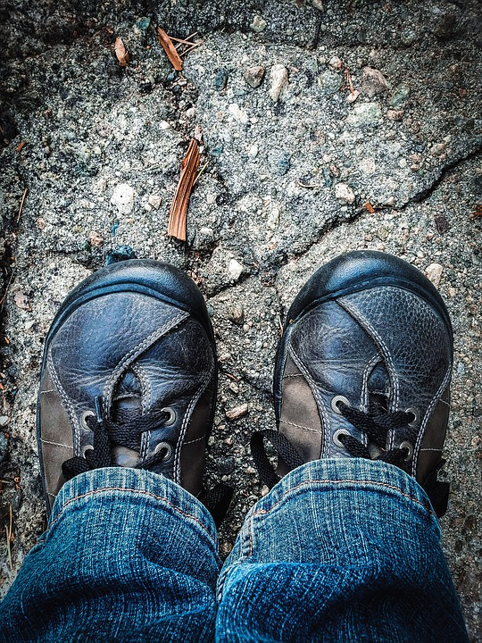 Feet, Walk, Journey, Pilgrim, Path, Shoes, Jeans